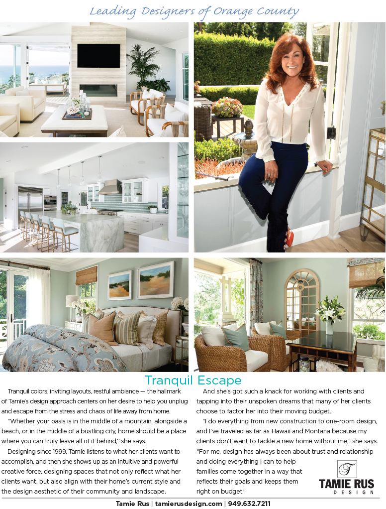 Tamie Rus Design featured in Architectural Digest May 2020